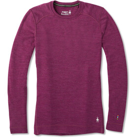 Smartwool Merino 250 Baselayer Crew Shirt Dame Sangria Heather